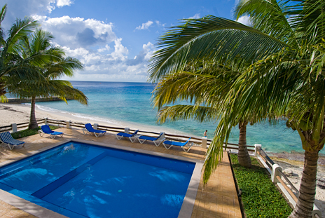 Pool and ocean view Las Brisas Condos Cozumel Mexico