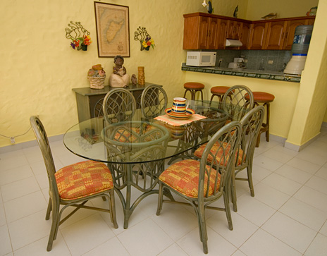 Cantamar 201 dining room, Cozumel vacation rental villa