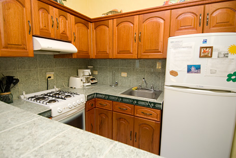 Cantamar 201 vacatin rental condo has a fully equipped kitchen