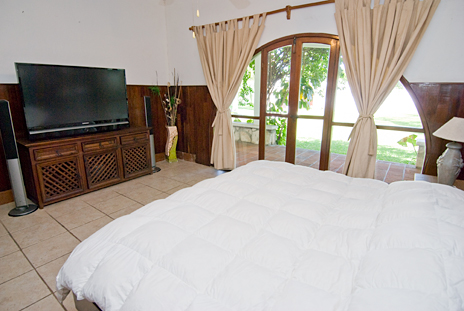 Another view of master bedroom in Villa Caracol, 5 BR vacation rental villa in Cozumel