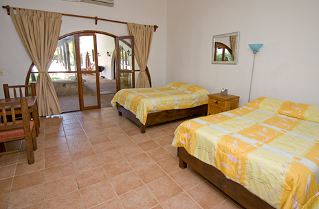Bedroom #5 at Villa Caracol has 2 double beds