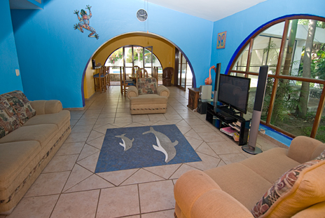 Another view of the living room at Villa Caracol, Cozumel vacation rental villa