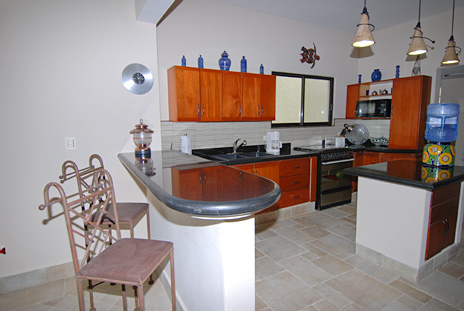 Kitchen Villa Coronado Cozumel Mexico Vacation Rental Villa