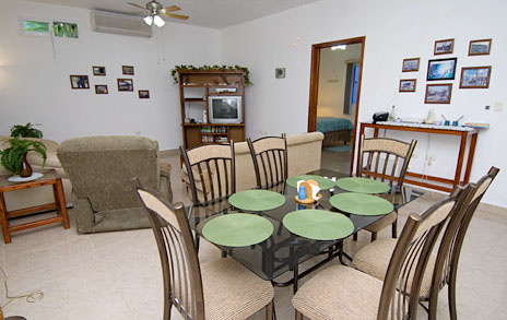 Dining room at Casa Don Rosa Cozumel vacation rental home