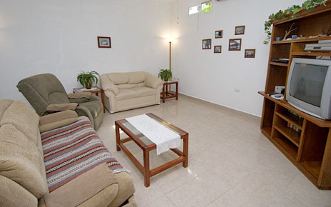 Living room at Casa Don Rosa Cozumel vacation rental home