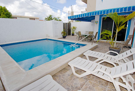 Patio Casa Don Rosa Cozumel vacation rental home