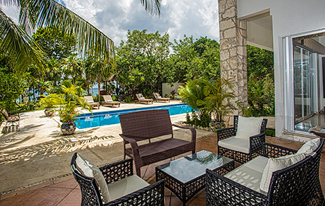Patio at Villa Eden, Cozumel vacation rental