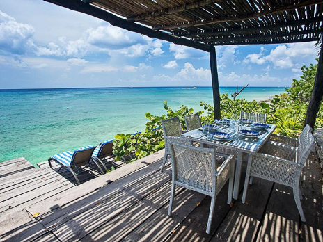Ocean front deck at Villa Eden, Cozumel vacation rental