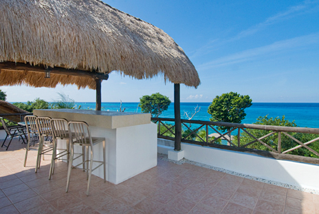 Rooftop terrace at Villa Eden, Cozumel vacation rental
