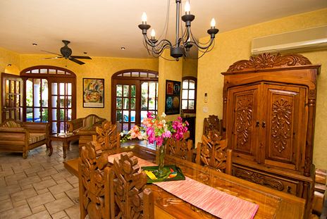 Another view of dining area of Hacienda Izamal vacation villa rental in Cozumel, Mexico