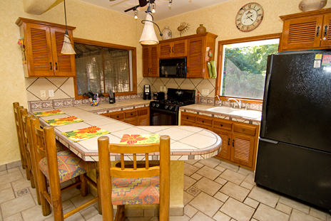 Kitchen of Hacienda Izamal vacation rental home in Cozumel