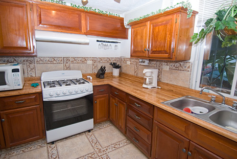 Kitchen at Casa Jen, a Cozumel vacation rental villa