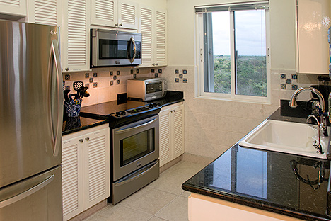 Kitchen of las Brisas 402 Cozumel vacation rental property