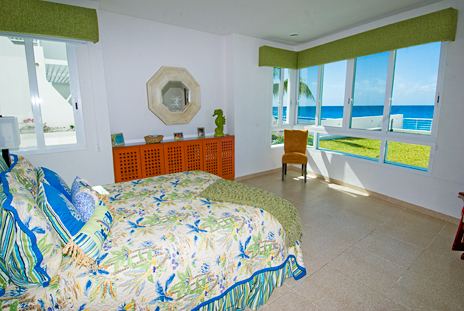 Bedroom #1 of Nah Ha 201 oceanfront Cozumel vacation rental home