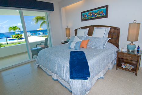 Bedroom #3 of Nah Ha 201 oceanfront Cozumel vacation rental condominium