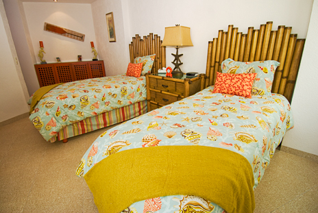 Bedroom #2 of Nah Ha 201 oceanfront Cozumel vacation rental property