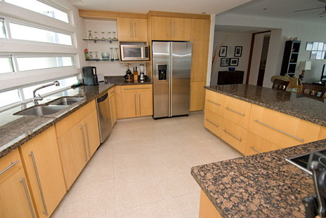 Kitchen of Nah Ha 702 3 BR Cozumel vacation rental villa