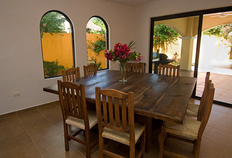 Dining room Villa Paradiso Cozumel vacation rental