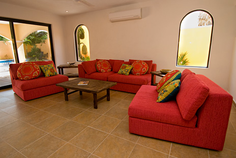 Living room Villa Paradiso Cozumel vacation rental