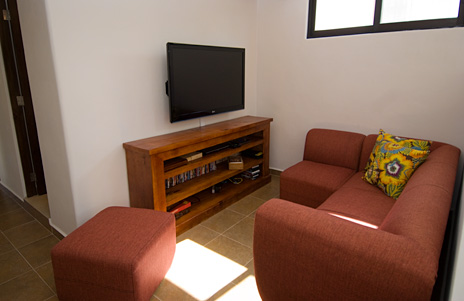 TV area Villa Paradiso Cozumel vacation rental