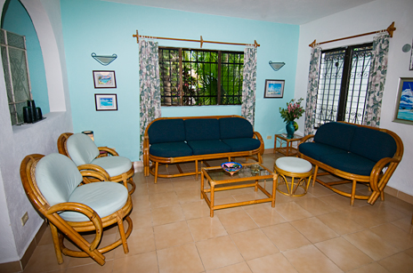 quetzal living room Cozumel Mexico vacation rental house