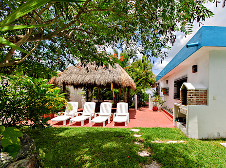 Palapa view Quetzal Cozumel vacation rental home