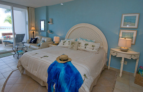 Residencias Reef 5110 studio has a king bed