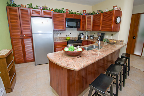 Kitchen of RR 5120 2 BR Cozumel vacation rental home