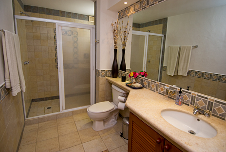 Bathroom of Residencias Reef 5220 2 BR Cozumel Vacation Rental Condo