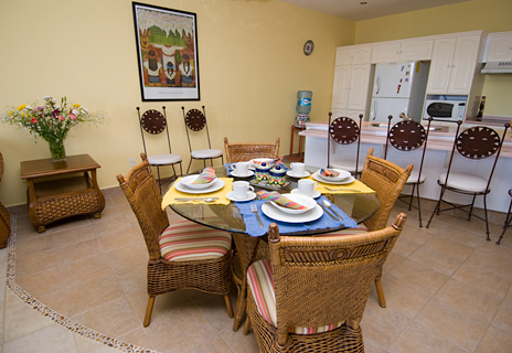 Dining room of Residencias Reef 5220 2 BR Cozumel Vacation Rental Condo