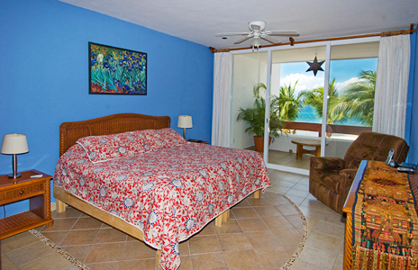 Bedroom #1 of Residencias Reef 5220 2 BR Cozumel Vacation Rental Condo