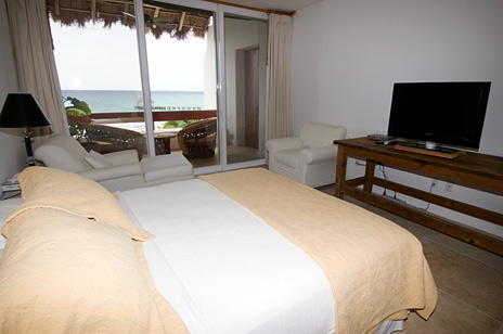 Bedroom #1 at RR 5320 at Residencias Reef Cozumel