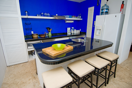 Kitchen at RR 5320 at Residencias Reef Cozumel