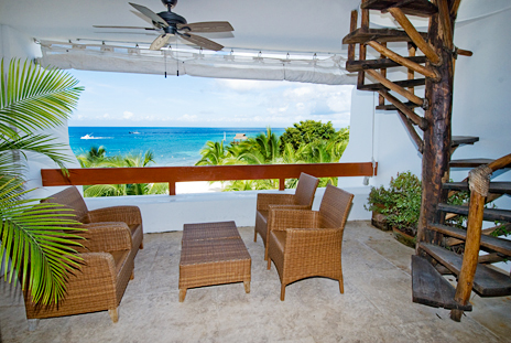 Patio at RR 5320 at Residencias Reef Cozumel