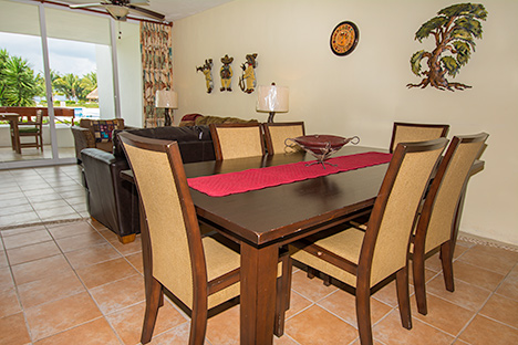 Dining room RR7130 Cozumel rental condo