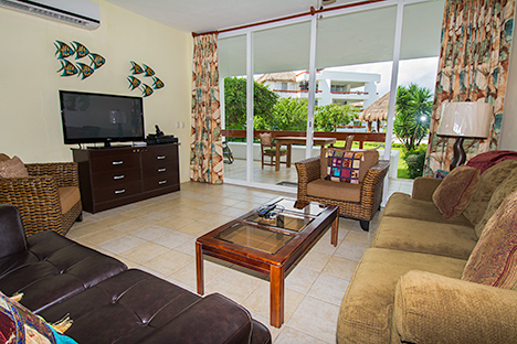 Patio  RR7130 Cozumel rental condo