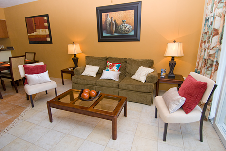Living room in RR 7160 at Residencias Reef vacation rental condo