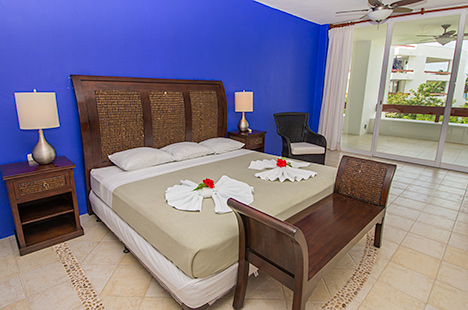 Bedroom #1 of Residencias Reef 7200 4 BR Cozumel vacation rental condo