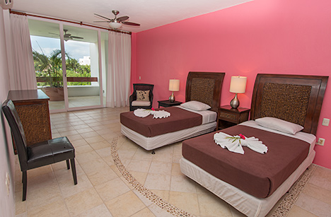 Bedroom #2 of Residencias Reef 7200 4 BR Cozumel vacation rental condo