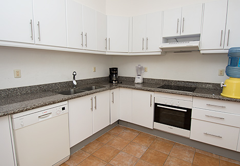 Large kitchen at  Residencias Reef 7200 4 BR Cozumel vacation rental condo