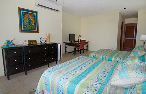 Living room and dining room  of Residencias Reef 7330 Cozumel vacation rental condo