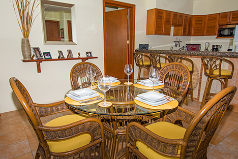 Dining room  of Residencias Reef 7330 Cozumel vacation rental condo