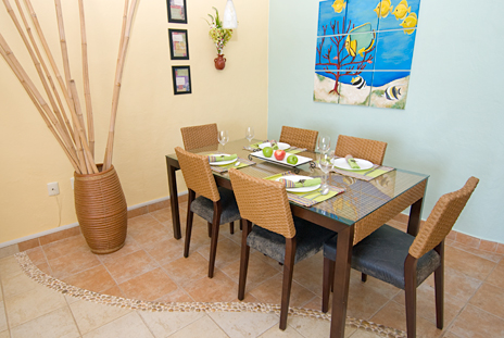 Dining room of RR 8310 1 BR Cozumel vacation rental condo