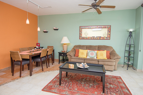 living room of RR 8340 1 BR cozumel vacation rental condo