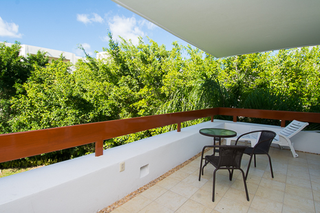 Patio of Residencias Reef 8380 Cozumel vacation rental condo