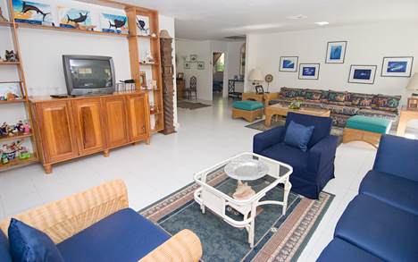 TV area  of Tres Palmas vacation rental villa in Cozumel