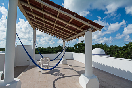 Rooftop observation area at Villa Torres