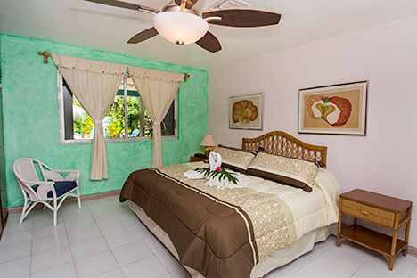 Bedroom #1  of Tres Palmas vacation rental villa in Cozumel