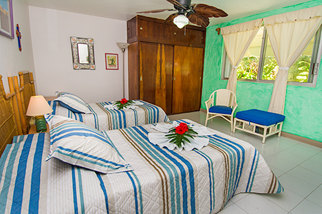 Bedroom #2  of Tres Palmas vacation rental villa in Cozumel