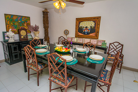 Dining  area of Tres Palmas vacation rental villa in Cozumel